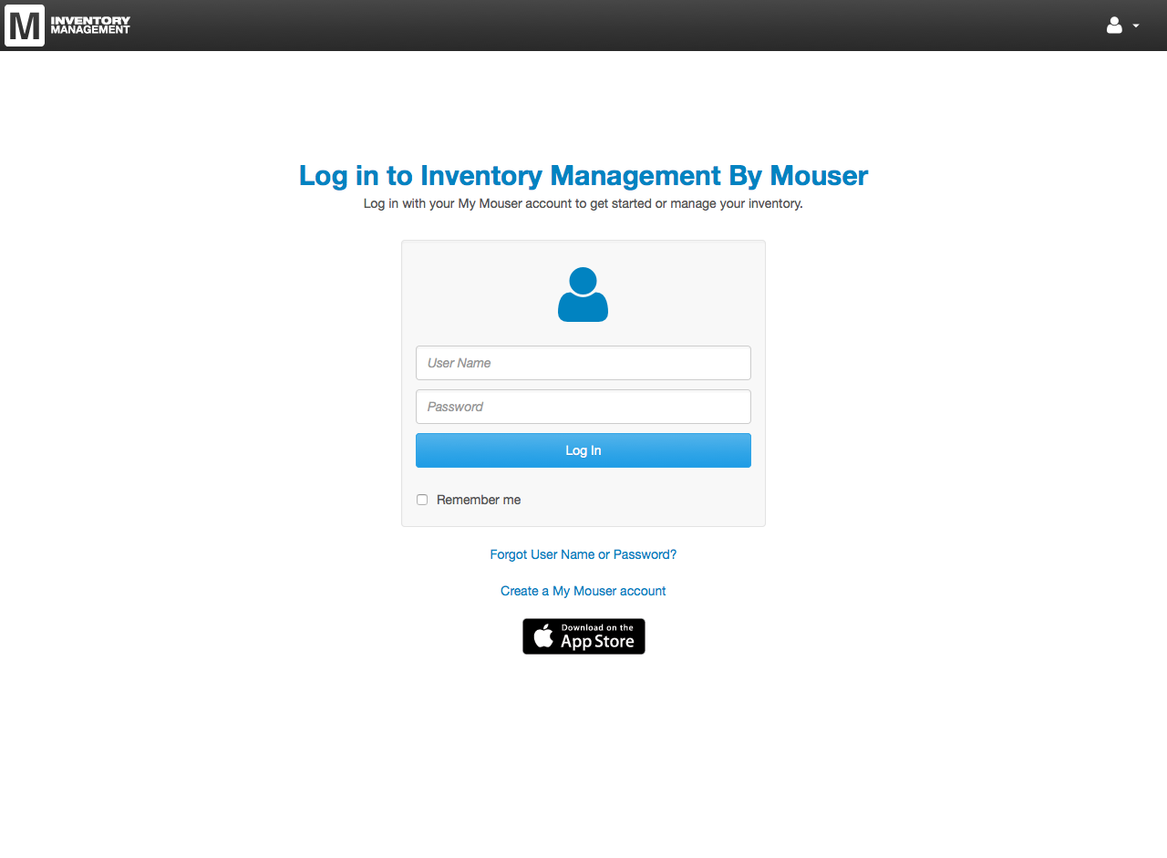 Inventory Management App Login Page